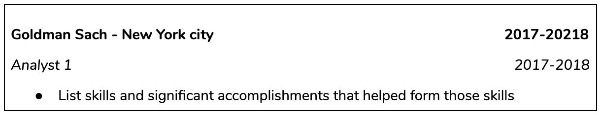 PE CV Example